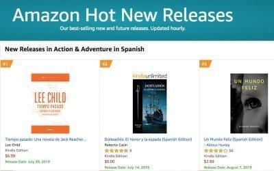 Doiteadiós: El honor y la espada entre los best sellers de Amazon